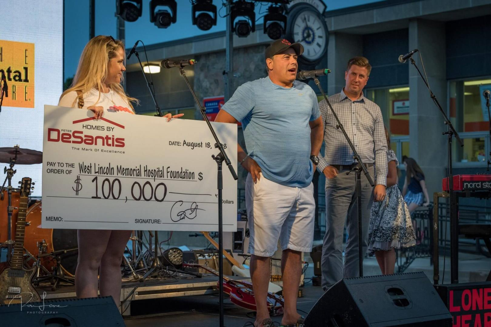 Homes By DeSantis raises $100,000 for the West Lincoln Memorial Hospital Foundation Image