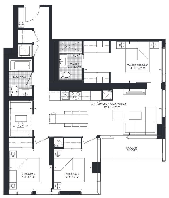 Yorkville 44 Floorplan 1