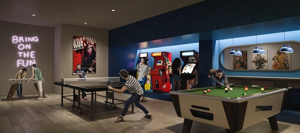 Arcade at Artworks Tower in Toronto by Daniels