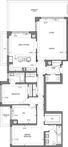 Building B - Penthouse Suites - 2X+DT Floorplan 1