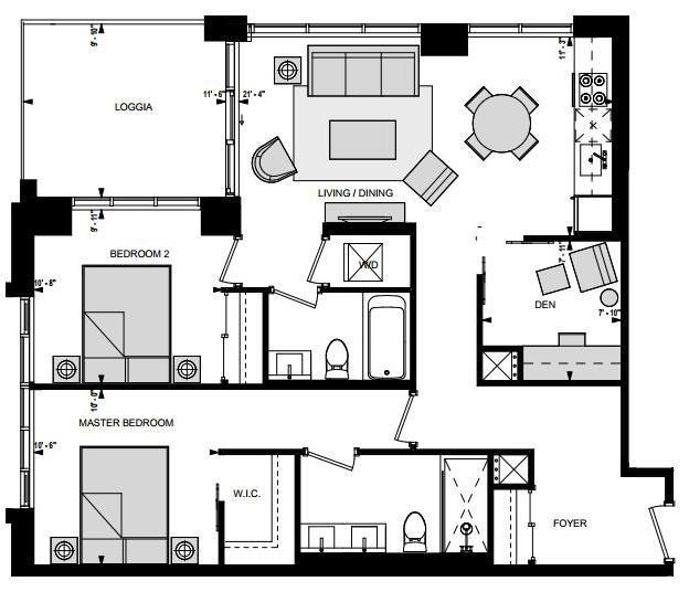 Suite LNW Floorplan 1