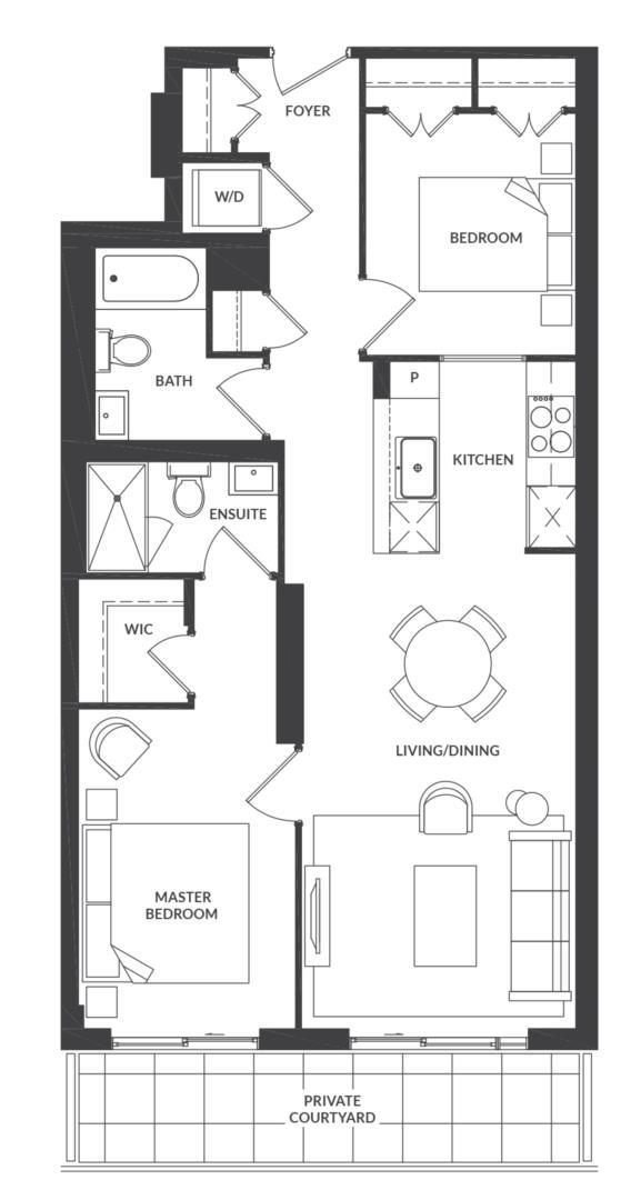 Suite 204 Floorplan 1