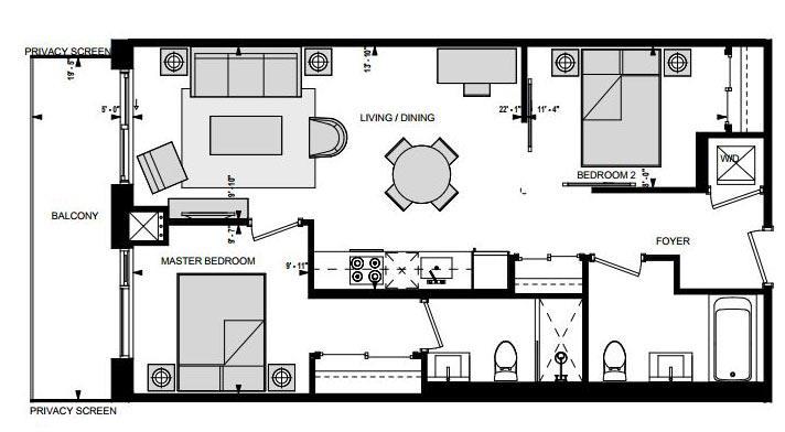 Suite DW Floorplan 1