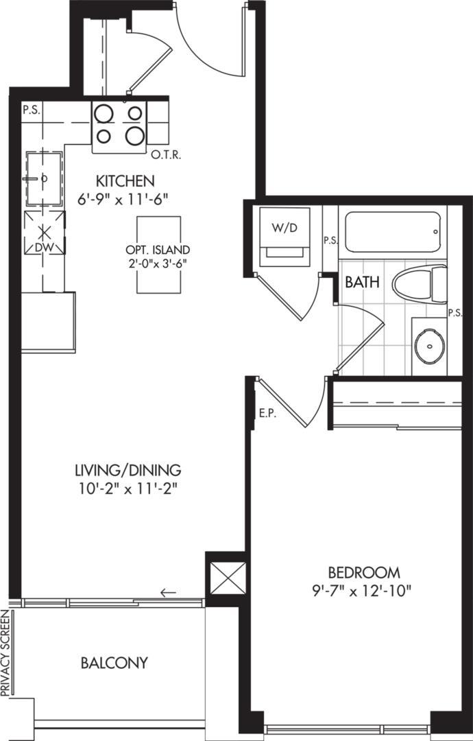 1-B Floorplan 1