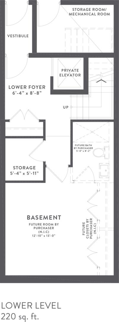 Townhome Collection B Floorplan 1