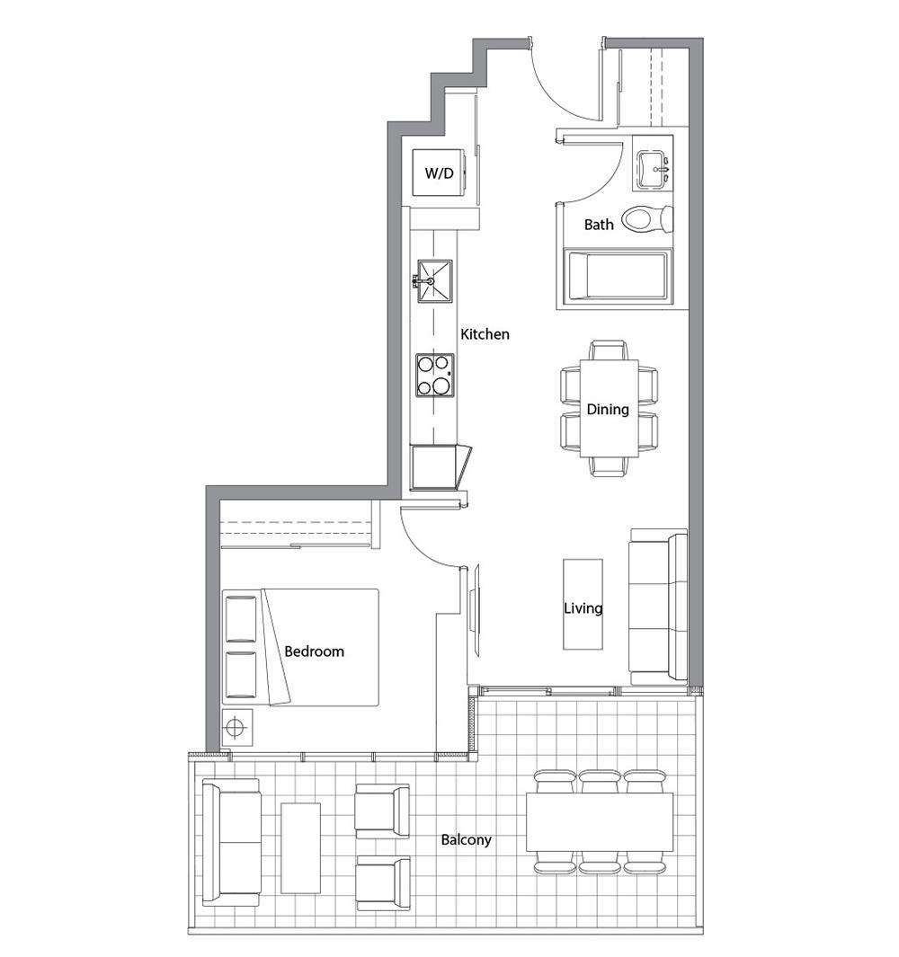 West Tower 05 Floorplan 1