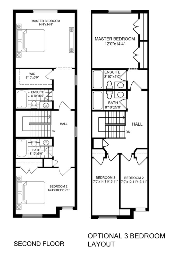 Inside Unit 3 Bedroom Floorplan 2