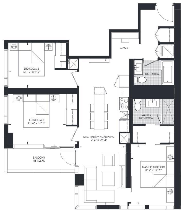 Yorkville 43 Floorplan 1