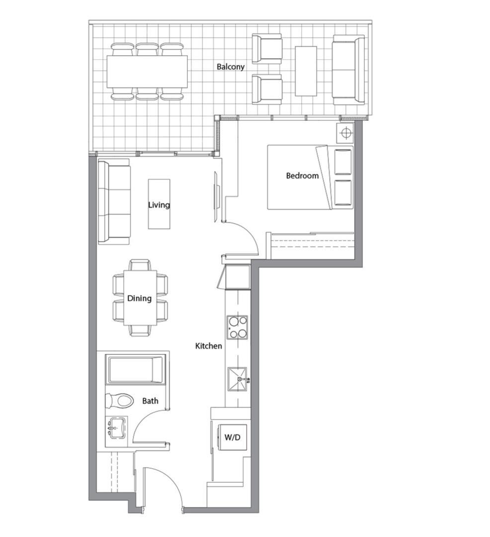 West Tower 11 Floorplan 1