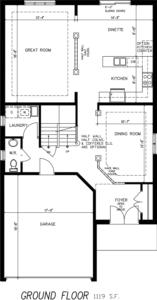 The Morning Glory Floorplan 1